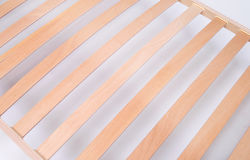 Latoflex, birch, wood slats. Mattress wood isolated on white background Royalty Free Stock Photography