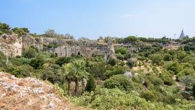 Latomia del paraíso en el parque arqueológico de Neapolis en Syracuse Fotos de archivo