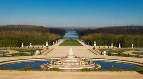 Latona喷泉在凡尔赛庭院里在法国 库存照片