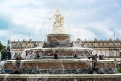 Latona Fountain in castle Herrenchiemsee Stock Images