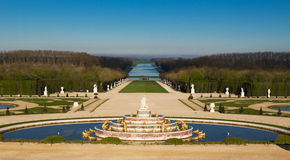 The Latona Fountain in the Garden of Versailles in France. The Garden of Versailles is on the UNESCO World Heritage List stock photos