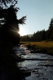 latorita над долиной захода солнца Стоковые Фото