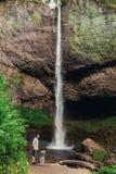 Latourell faller vattenfallet längs den Columbia River klyftan royaltyfri foto