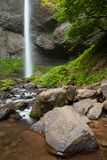 Latourell Falls in the Columbia River Gorge, Oregon stock images