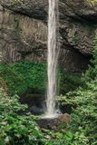 Latourell Falls waterfall along the Columbia River Gorge stock photo