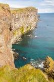 Latrabjarg klippor - Island. Royaltyfri Foto