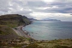 Latrabjarg południowe wybrzeże Zdjęcie Royalty Free