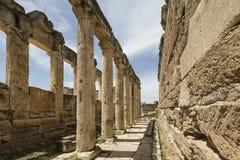 The Latrine in Hierapolis, Denizli, Turkey Stock Images