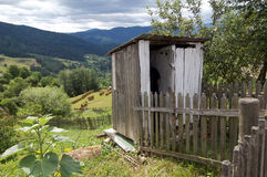 Latrine. Old bathroom (latrine) outside in the old country houses of the Romanian Moldavia royalty free stock photos
