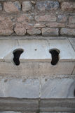 Latrines in the ancient city of Ephesus Royalty Free Stock Images