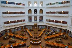 The Latrobe Reading Room, State Library, Melbourne. The Latrobe reading room is in the Dome in the State Library, Melbourne. The library was built in 1854 making royalty free stock photos