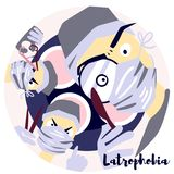 Latrophobia stock illustratie