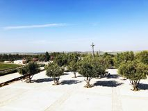 LATRUN, ISRAEL-MARCH 13日2018年:纪念站点和装甲的军团博物馆在Latrun,以色列 库存图片