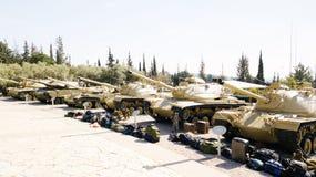 LATRUN, ISRAËL 13 MARS 2018 : Site commémoratif et le musée blindé de corps dans Latrun, Israël image stock