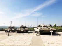 LATRUN, ISRAËL 13 MARS 2018 : Site commémoratif et le musée blindé de corps dans Latrun, Israël photos libres de droits