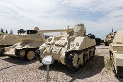 Soviet Stalin ist recovery tank captured from Egypt is on the Memorial Site near the Armored Corps Museum in Latrun, Israel. Latrun, Israel, April 06, 2019 stock images