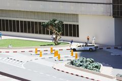 LATRUN, ISRAEL - JUNE 7, 2014: Museum of miniature architectural landmarks of Israel in the open airn. LATRUN, ISRAEL - JUNE 7, 2014: Museum of miniature Stock Photo