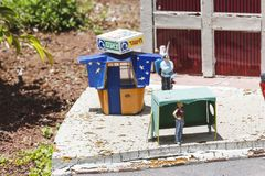 LATRUN, ISRAEL - JUNE 7, 2014: Museum of miniature architectural landmarks of Israel in the open airn. LATRUN, ISRAEL - JUNE 7, 2014: Museum of miniature Royalty Free Stock Images