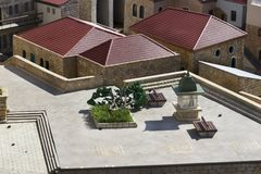 Museum of miniature architectural landmarks of Israel in the open air. LATRUN, ISRAEL - 23 NOVEMBER 2017: Museum of miniature architectural landmarks of Israel Royalty Free Stock Photo