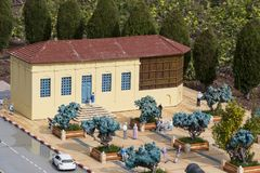 Museum of miniature architectural landmarks of Israel in the open air. LATRUN, ISRAEL - 23 NOVEMBER 2017: Museum of miniature architectural landmarks of Israel Stock Images