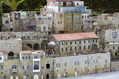 Museum of miniature architectural landmarks of Israel in the open air. LATRUN, ISRAEL - 23 NOVEMBER 2017: Museum of miniature architectural landmarks of Israel Stock Photos