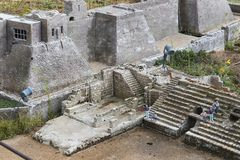 Museum of miniature architectural landmarks of Israel in the open air. LATRUN, ISRAEL - 23 NOVEMBER 2017: Museum of miniature architectural landmarks of Israel Royalty Free Stock Photos