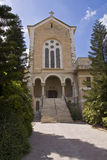 Latrun's church. The Latrun Monastery is located on a rise with a fabulous view of the Ayalon Valley. Just across the Jerusalem highway Stock Photo