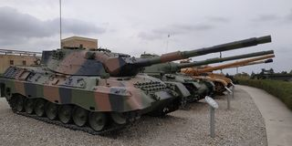 Latrun - Armored Corps Museum - Yad LaShiryon - Yad LeShtron royalty free stock photography