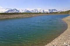 Latschensee perto de Isskogel, Gerlos, Áustria Fotografia de Stock
