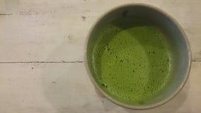 Latté de thé vert Image libre de droits