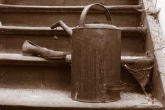 Latta antica dell'olio fotografia stock libera da diritti