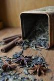 Latta asciutta del tè Fotografia Stock