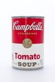 Latta della minestra del pomodoro di Campbell Immagine Stock Libera da Diritti