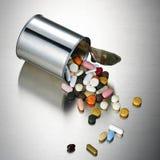 Latta della pillola Immagine Stock Libera da Diritti