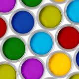 Latta della vernice Fotografia Stock Libera da Diritti