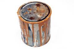 Latta della vernice del metallo Fotografie Stock Libere da Diritti