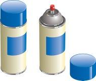 Latta della vernice dell'aerosol Immagini Stock Libere da Diritti
