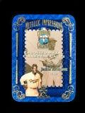 Latta delle carte di baseball di Jackie Robinson Tribute Metallic Impressions Metal Immagine Stock