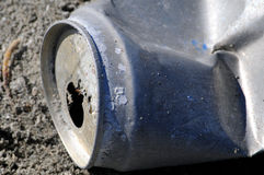Latta di alluminio al mare di Salton Fotografie Stock Libere da Diritti