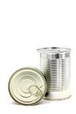 Latta di alluminio del metallo Immagine Stock Libera da Diritti