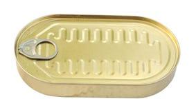 Latta di alluminio del metallo Fotografia Stock Libera da Diritti