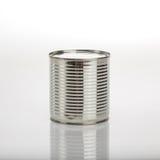 Latta di alluminio dell'alimento Fotografia Stock