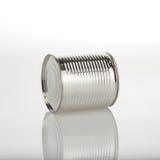 Latta di alluminio dell'alimento Immagine Stock