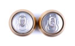 Latta di alluminio della cola, vista dalla cima Fotografie Stock