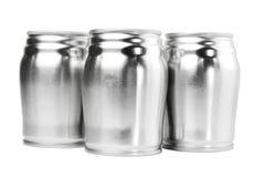 Latta di alluminio tre Fotografia Stock Libera da Diritti