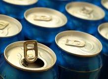 Latta di birra aperta Fotografie Stock Libere da Diritti