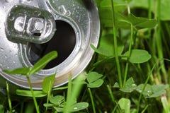 Latta di birra di alluminio Fotografia Stock