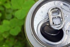Latta di birra di alluminio Immagini Stock Libere da Diritti