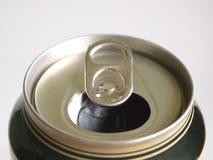 Latta di birra vuota Immagine Stock