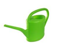 Latta di innaffiatura verde Immagine Stock